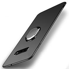 Coque Plastique Housse Etui Rigide Mat avec Support Bague Anneau Aimante Magnetique P02 pour Samsung Galaxy S10 Noir