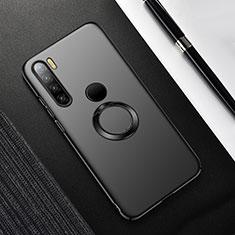 Coque Plastique Housse Etui Rigide Mat avec Support Bague Anneau Aimante Magnetique P02 pour Xiaomi Redmi Note 8T Noir