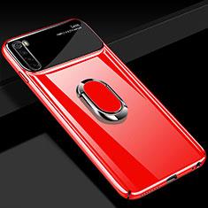 Coque Plastique Housse Etui Rigide Mat avec Support Bague Anneau Aimante Magnetique P03 pour Xiaomi Redmi Note 8T Rouge