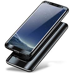 Coque Plastique Mat Protection Integrale 360 Degres Avant et Arriere Etui Housse A01 pour Samsung Galaxy Note 8 Duos N950F Noir