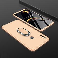 Coque Plastique Mat Protection Integrale 360 Degres Avant et Arriere Etui Housse avec Support Bague Anneau pour Huawei Enjoy 9 Plus Or