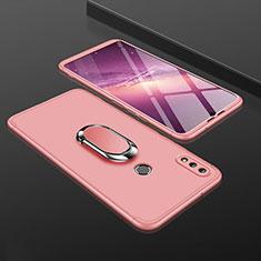 Coque Plastique Mat Protection Integrale 360 Degres Avant et Arriere Etui Housse avec Support Bague Anneau pour Huawei Enjoy 9 Plus Or Rose