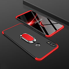 Coque Plastique Mat Protection Integrale 360 Degres Avant et Arriere Etui Housse avec Support Bague Anneau pour Huawei Enjoy 9 Plus Rouge et Noir