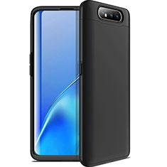 Coque Plastique Mat Protection Integrale 360 Degres Avant et Arriere Etui Housse C01 pour Samsung Galaxy A80 Noir