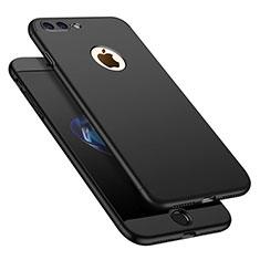 Coque Plastique Mat Protection Integrale 360 Degres Avant et Arriere Etui Housse M01 pour Apple iPhone 7 Plus Noir