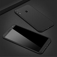 Coque Plastique Mat Protection Integrale 360 Degres Avant et Arriere Etui Housse M01 pour Huawei P Smart (2019) Noir