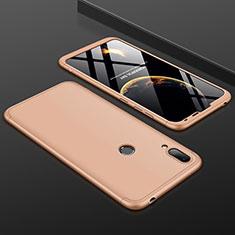 Coque Plastique Mat Protection Integrale 360 Degres Avant et Arriere Etui Housse M01 pour Huawei Y7 Pro (2019) Or