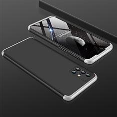Coque Plastique Mat Protection Integrale 360 Degres Avant et Arriere Etui Housse M01 pour Samsung Galaxy M31s Argent et Noir