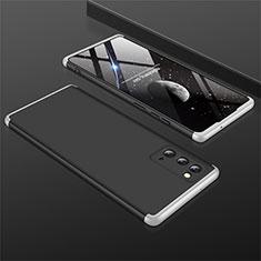 Coque Plastique Mat Protection Integrale 360 Degres Avant et Arriere Etui Housse M01 pour Samsung Galaxy Note 20 5G Argent et Noir