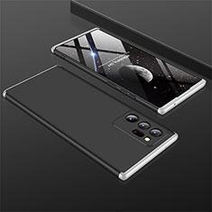 Coque Plastique Mat Protection Integrale 360 Degres Avant et Arriere Etui Housse M01 pour Samsung Galaxy Note 20 Ultra 5G Argent et Noir