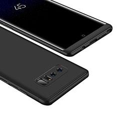 Coque Plastique Mat Protection Integrale 360 Degres Avant et Arriere Etui Housse M01 pour Samsung Galaxy Note 8 Noir
