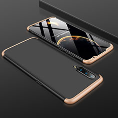 Coque Plastique Mat Protection Integrale 360 Degres Avant et Arriere Etui Housse M01 pour Xiaomi Mi A3 Lite Or et Noir