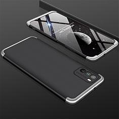 Coque Plastique Mat Protection Integrale 360 Degres Avant et Arriere Etui Housse M01 pour Xiaomi Poco M3 Argent et Noir