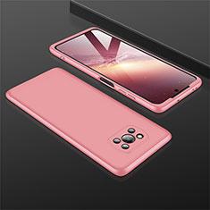 Coque Plastique Mat Protection Integrale 360 Degres Avant et Arriere Etui Housse M01 pour Xiaomi Poco X3 NFC Or Rose