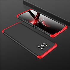 Coque Plastique Mat Protection Integrale 360 Degres Avant et Arriere Etui Housse M01 pour Xiaomi Poco X3 NFC Rouge et Noir