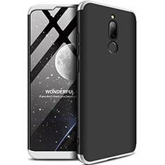 Coque Plastique Mat Protection Integrale 360 Degres Avant et Arriere Etui Housse M01 pour Xiaomi Redmi 8 Argent et Noir