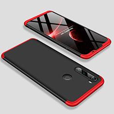 Coque Plastique Mat Protection Integrale 360 Degres Avant et Arriere Etui Housse M01 pour Xiaomi Redmi Note 8T Rouge et Noir