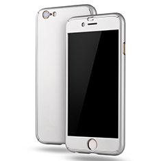 Coque Plastique Mat Protection Integrale 360 Degres Avant et Arriere Etui Housse M02 pour Apple iPhone 6S Plus Blanc
