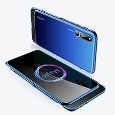 Coque Plastique Mat Protection Integrale 360 Degres Avant et Arriere Etui Housse M02 pour Huawei Honor Magic 2 Bleu