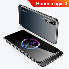 Coque Plastique Mat Protection Integrale 360 Degres Avant et Arriere Etui Housse M02 pour Huawei Honor Magic 2 Noir