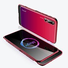 Coque Plastique Mat Protection Integrale 360 Degres Avant et Arriere Etui Housse M02 pour Huawei Honor Magic 2 Rouge
