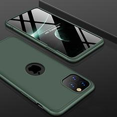 Coque Plastique Mat Protection Integrale 360 Degres Avant et Arriere Etui Housse P01 pour Apple iPhone 11 Pro Vert