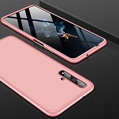 Coque Plastique Mat Protection Integrale 360 Degres Avant et Arriere Etui Housse P01 pour Huawei Honor 20 Or Rose
