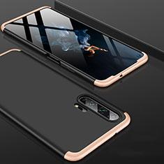 Coque Plastique Mat Protection Integrale 360 Degres Avant et Arriere Etui Housse P01 pour Huawei Honor 20 Pro Or et Noir