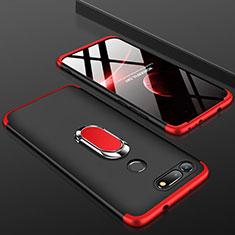Coque Plastique Mat Protection Integrale 360 Degres Avant et Arriere Etui Housse P01 pour Huawei Honor View 20 Rouge et Noir