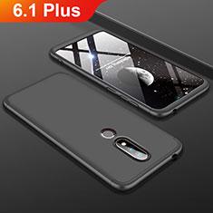 Coque Plastique Mat Protection Integrale 360 Degres Avant et Arriere Etui Housse P01 pour Nokia 6.1 Plus Noir