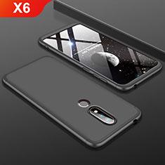 Coque Plastique Mat Protection Integrale 360 Degres Avant et Arriere Etui Housse P01 pour Nokia X6 Noir
