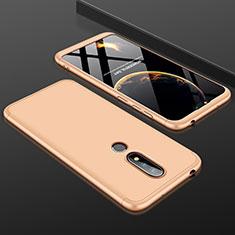 Coque Plastique Mat Protection Integrale 360 Degres Avant et Arriere Etui Housse P01 pour Nokia X6 Or