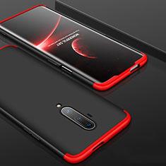 Coque Plastique Mat Protection Integrale 360 Degres Avant et Arriere Etui Housse P01 pour OnePlus 7T Pro Rouge et Noir