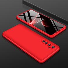 Coque Plastique Mat Protection Integrale 360 Degres Avant et Arriere Etui Housse P01 pour Realme X50 Pro 5G Rouge