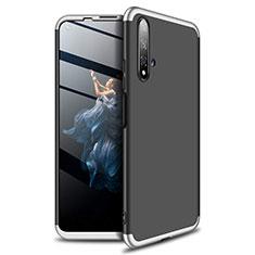 Coque Plastique Mat Protection Integrale 360 Degres Avant et Arriere Etui Housse P02 pour Huawei Honor 20 Argent