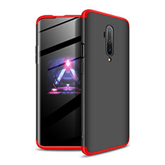 Coque Plastique Mat Protection Integrale 360 Degres Avant et Arriere Etui Housse P02 pour OnePlus 7T Pro Rouge et Noir