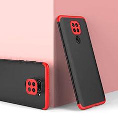 Coque Plastique Mat Protection Integrale 360 Degres Avant et Arriere Etui Housse P02 pour Xiaomi Redmi Note 9 Rouge et Noir