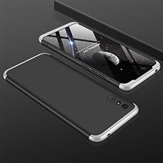 Coque Plastique Mat Protection Integrale 360 Degres Avant et Arriere Etui Housse P03 pour Xiaomi Redmi 9A Argent et Noir