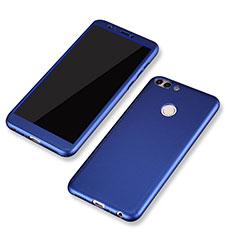 Coque Plastique Mat Protection Integrale 360 Degres Avant et Arriere Etui Housse pour Huawei Enjoy 7S Bleu