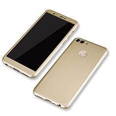 Coque Plastique Mat Protection Integrale 360 Degres Avant et Arriere Etui Housse pour Huawei Enjoy 7S Or
