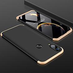 Coque Plastique Mat Protection Integrale 360 Degres Avant et Arriere Etui Housse pour Huawei Enjoy 9 Plus Or et Noir