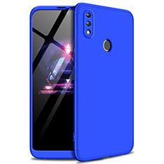 Coque Plastique Mat Protection Integrale 360 Degres Avant et Arriere Etui Housse pour Huawei Enjoy Max Bleu