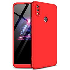 Coque Plastique Mat Protection Integrale 360 Degres Avant et Arriere Etui Housse pour Huawei Enjoy Max Rouge
