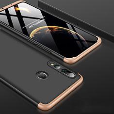 Coque Plastique Mat Protection Integrale 360 Degres Avant et Arriere Etui Housse pour Huawei Honor 20 Lite Or et Noir