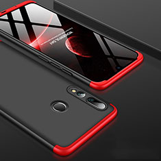Coque Plastique Mat Protection Integrale 360 Degres Avant et Arriere Etui Housse pour Huawei Honor 20i Rouge et Noir