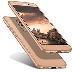 Coque Plastique Mat Protection Integrale 360 Degres Avant et Arriere Etui Housse pour Huawei Honor 6X Pro Or