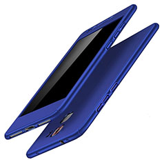 Coque Plastique Mat Protection Integrale 360 Degres Avant et Arriere Etui Housse pour Huawei Honor 7 Dual SIM Bleu