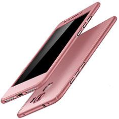 Coque Plastique Mat Protection Integrale 360 Degres Avant et Arriere Etui Housse pour Huawei Honor 7 Dual SIM Or Rose