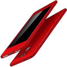 Coque Plastique Mat Protection Integrale 360 Degres Avant et Arriere Etui Housse pour Huawei Honor 7 Dual SIM Rouge