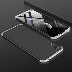 Coque Plastique Mat Protection Integrale 360 Degres Avant et Arriere Etui Housse pour Huawei Honor 8A Argent